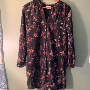 Everly Fall floral print long sleeved dress